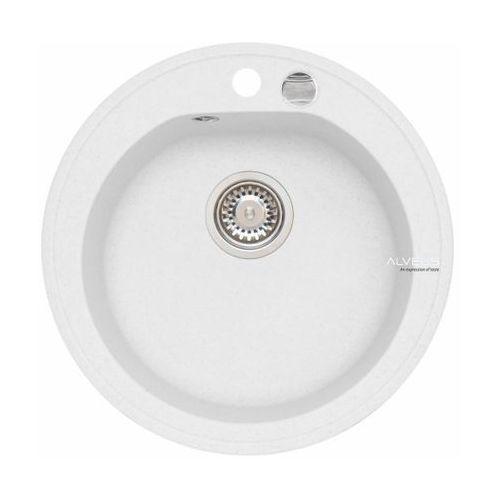 Zlewozmywak niagara 10 biały 1-komorowy + syfon automatyczny marki Alveus