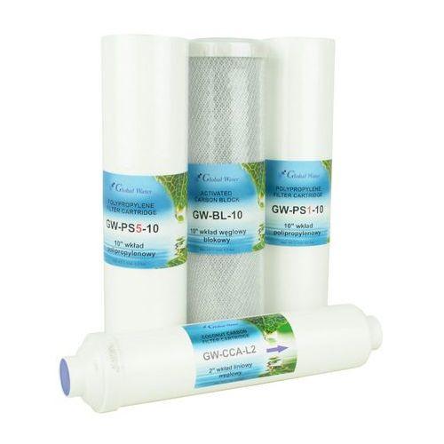 Komplet wkładów do ro5, ro6, ro7 bez mineralizatora marki Global water