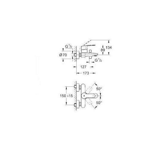Bateria Grohe EUROSTYLE 33591002