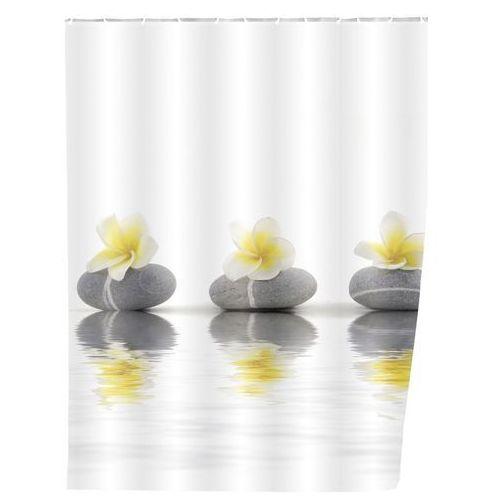 Zasłona prysznicowa, tekstylna, Stones and Flower, 180x200 cm, WENKO (4008838209608)