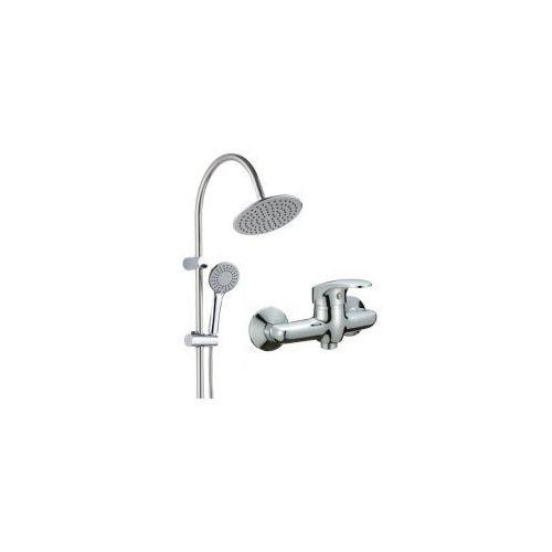 Deszczownica kolumna zestaw prysznicowy natryskowy pg7 20ox + bateria vigo bli 040d marki Kuchinox