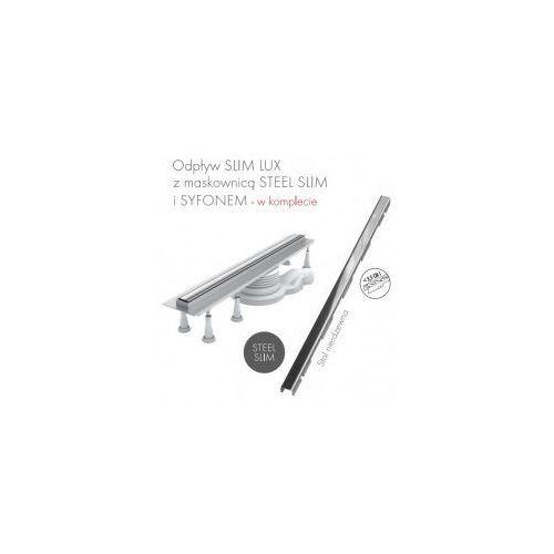 Schedpol slim lux odwodnienie liniowe 70x3,5x9,5 steel slim olsl70/slx