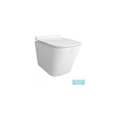 RAUL RIMLESS SLIM Miska WC wisząca bezrantowa + deska wolnoopadająca, REA-C9660