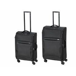 zestaw walizek podróżnych, czarny, 2 szt marki Topmove®