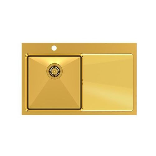Zlew stalowy złoty wpuszczany Quadron Russel 111 - złoty, kolor złoty