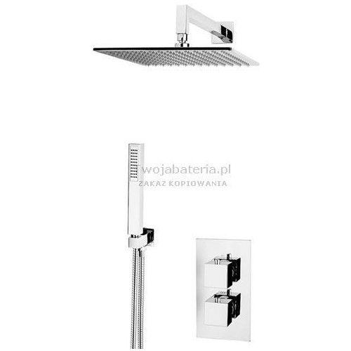 Vicario corner kompletny zestaw prysznicowy podtynkowy termostatyczny tczes20 marki Vicario per carlo