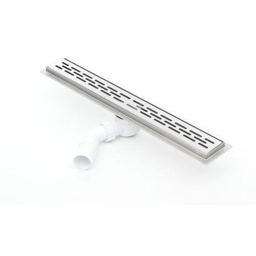 Odpływ liniowy silver stripes 1100kf_p 110 cm (syfon plastik) marki Kesmet