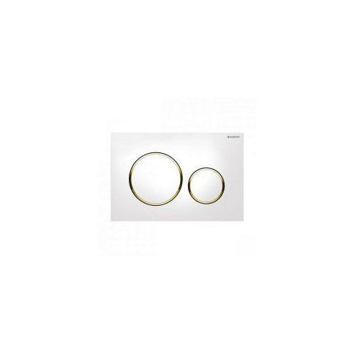 Geberit sigma 20 przycisk, biały / złoty / biały 115.882.kk.1