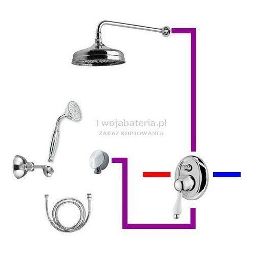 parigi kompletny zestaw prysznicowy deszczownica słuchawka z uchwytem retro 95zes20 marki Giulini giovanni