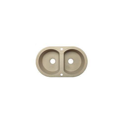 LAVEO DAFNE Zlewozmywak granitowy 78x47x19cm, granit beż SGD 420T, SGD420T