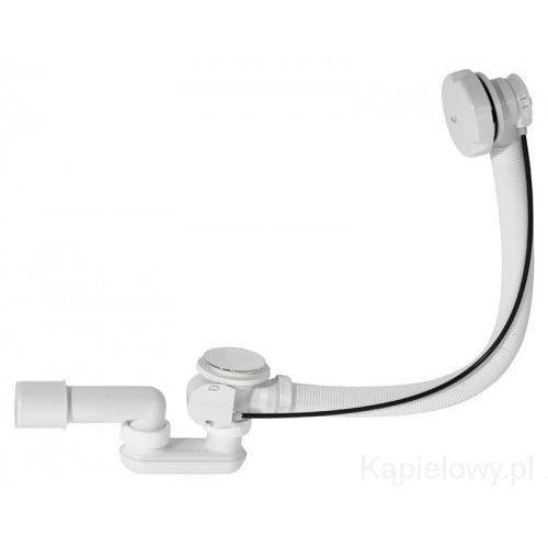 Syfon automatyczny do wanny biały z dużym korkiem A51BM