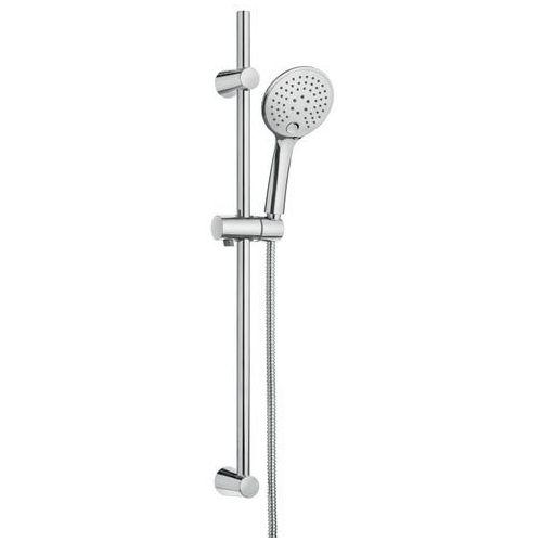 Invena mykonos drążek prysznicowy ze słuchawką au-10-kpl-c