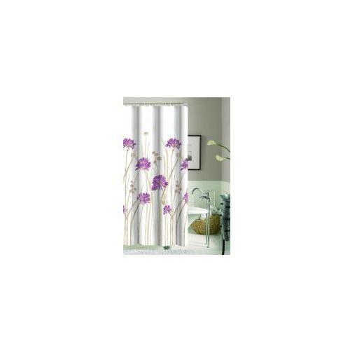 GALICJA Zasłonka prysznicowa 180 x 180 Poliestrowa 9947 wz 17 kwiatki, 9947 wz 17
