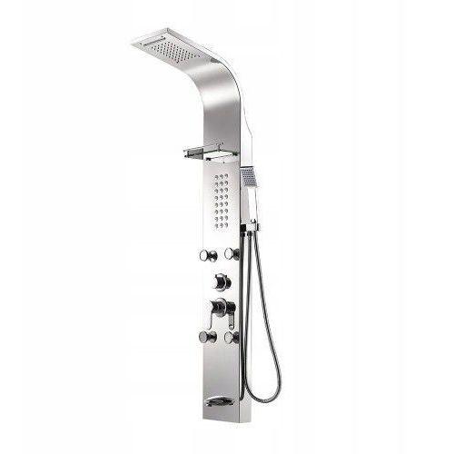 Srebrny panel prysznicowy deszczownica marki Indes