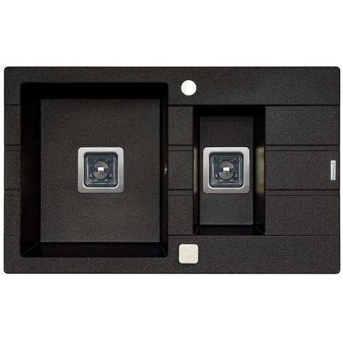 Zlewozmywak PYRAMIS ARKADIA (78x48) 1 1/2B 1D czarny (5201217236427)