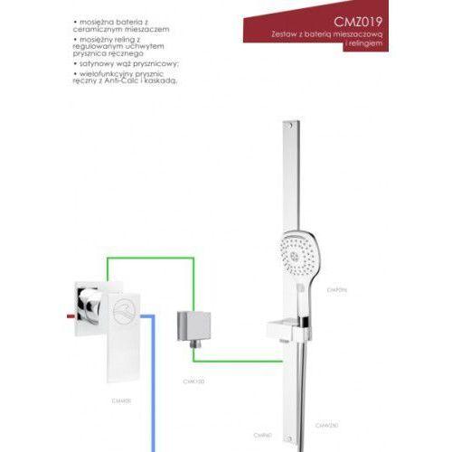 Corsan zestaw z baterią mieszaczową i relingiem CMZ019, CMZ019