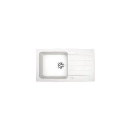 LAVEO BORNEO Zlewozmywak granitowy 78x44x17cm, granit biały SGB 611T, SGB611T