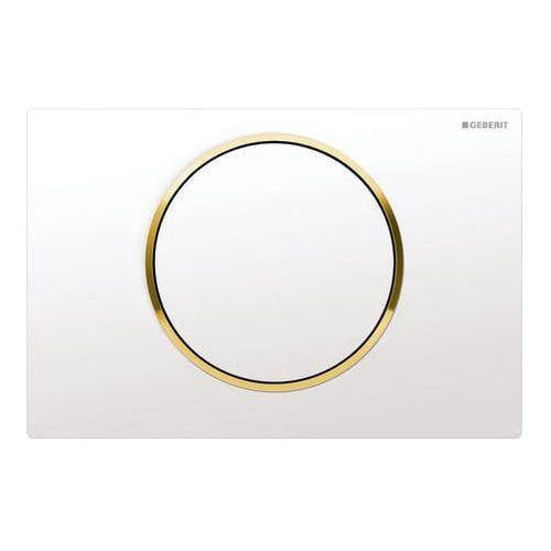 Geberit przycisk uruchamiający Sigma10 biały/złote pierścienie 115.758.KK.1