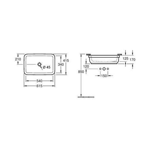 Villeroy & Boch Architectura 54 x 34 (4177 60 01)