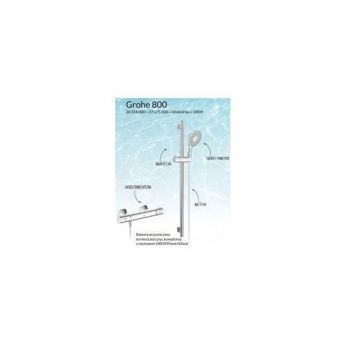 GROHE 800 Zestaw prysznicowy-termostatyczny, chrom, 3455800027675000VitalioFlexDR09