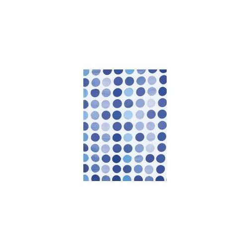 AWD INTERIOR Zasłonka prysznicowa kółka niebieskie AWD02101213, AWD02101213