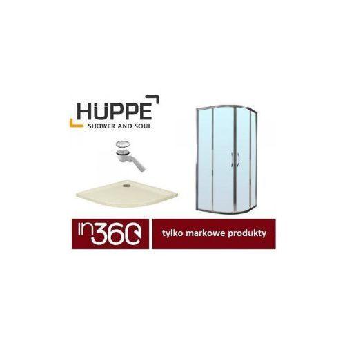 ena 2.0 kabina prysznicowa 90x90 powłoka + brodzik xerano 1/4 koła + syfon (140602069322) in.000k910 marki Huppe