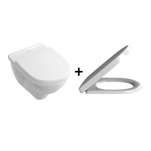 o.novo toaleta wc podwieszana z deską wolnoopadającą 5660hr01 marki Villeroy&boch