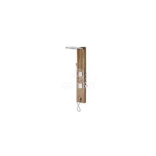teca panel prysznicowy z termostatem, drewno b-025 * wysyłka gratis! marki Corsan