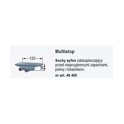 linearis suchy syfon multistop pasujący do odpływu compact 48400 marki Kessel