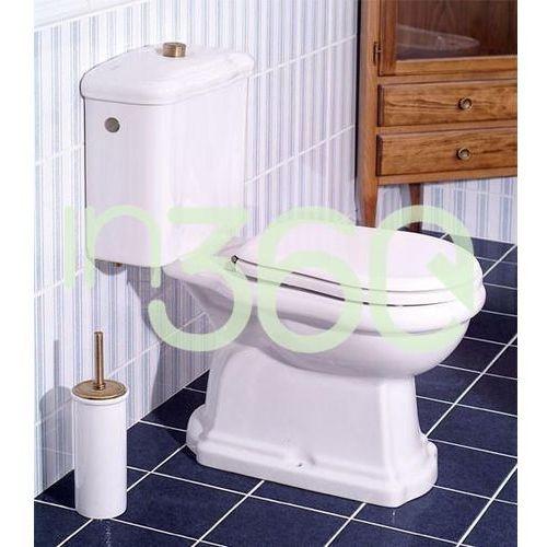 retro miska wc kompaktowa pozioma biały 101301 marki Kerasan