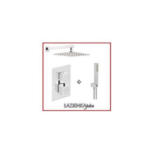 Zestawy Podtynkowy zestaw prysznicowy z baterią termostatyczną cmt01, chrom zest2