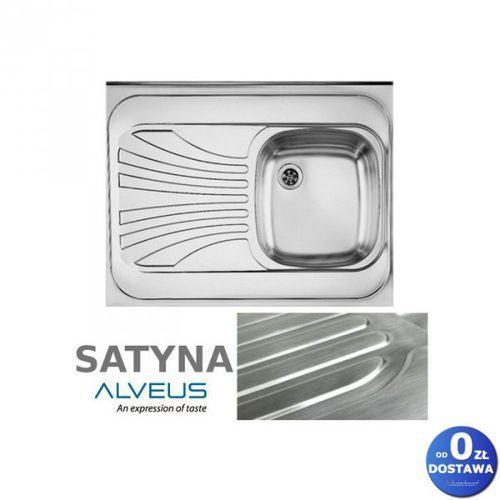 """Alveus Classic 30 satyna 80x60x15 cm zlewozmywak nakładany ociekacz lewy 1-komorowy ze stali nierdzewnej + syfon 1 1/2"""" (3838997026980)"""