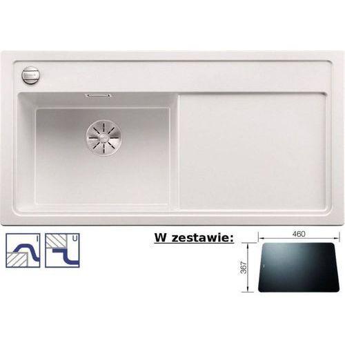 Zlewozmywak ZENAR XL 6S Silgranit PuraDur biały lewa komora z korkiem InFino i korkiem aut. z deską szklaną