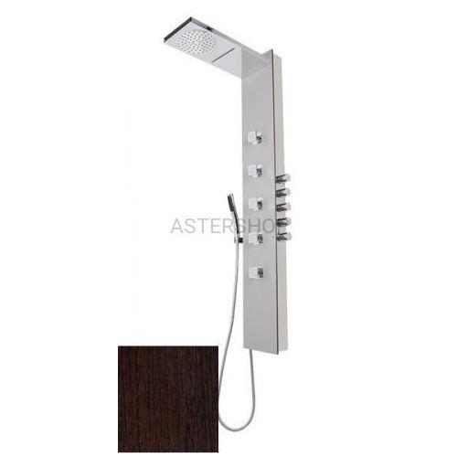 Polysan Soul 200 panel prysznicowy z termostatatem, wenge 78792 (8590729066552)