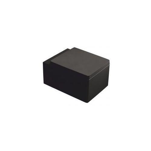 KERRA THOR26 Miska WC wisząca + deska duroplast wolnoopadająca, czarna, THOR26