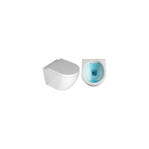 LENA RIMLESS Miska WC wisząca + deska wolnoopadająca