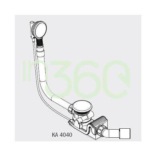 Kaldewei Syfon wannowy model 4040 specjalny do wanien CentroDuo oraz EllipsoDuo Biały 687772080001