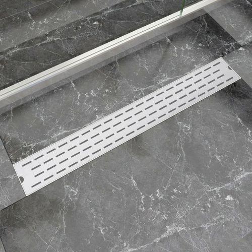 kratka odpływowa, liniowa, 830x140 mm, wzór linii, stal nierdzewna marki Vidaxl