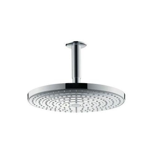 głowica prysznicowa, 2 strumienie, z przyłączem sufitowym 100 mm raindance select s 27337000 marki Hansgrohe
