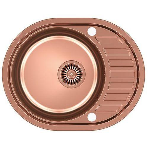 Quadron Zlewozmywak clint 211 hb7112c1k-bw7002c1 miedziany + bateria ingrid + darmowy transport! (5903242532108)