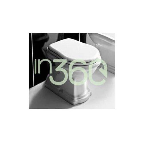 retro miska wc stojąca odpływ pionowy biała 101001 marki Kerasan