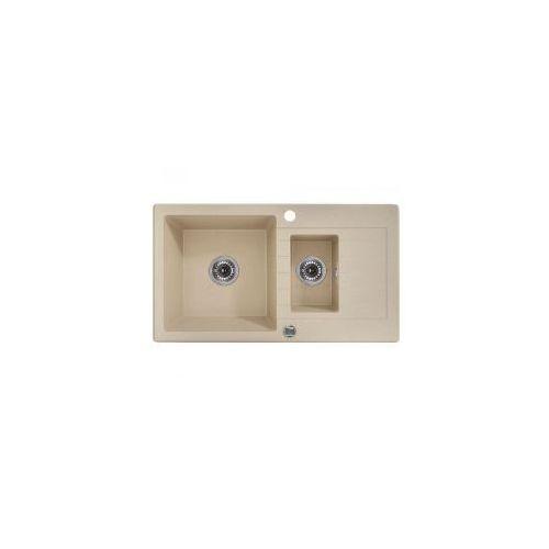 DEANTE ZORBA Zlewozmywak 1,5-komorowy z ociekaczem, piaskowy ZQZ 7513, ZQZ7513