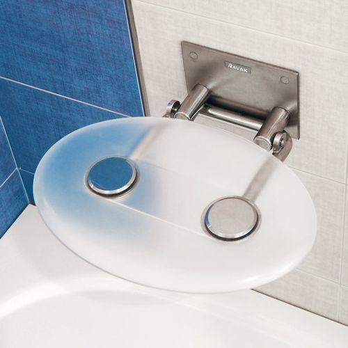 Ravak Siedzisko prysznicowe  ovo p opal - opal-mleczne