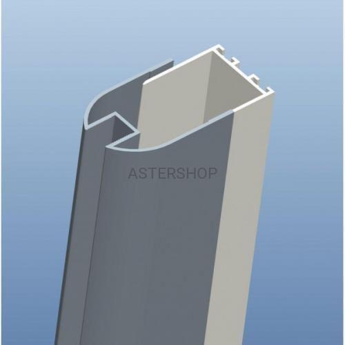 Sanotechnik Profil przyścienny chromowany, 4,5x6x195 cm d4000