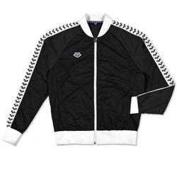 bluza rozpinana man relax iv team jacket icons black-white-black, kolor: black, rozmiar: l marki Arena