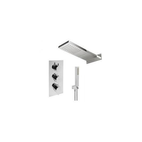 Zestawy Podtynkowy zestaw prysznicowy z baterią termostatyczną omnires y1238/6 kaskada, chrom zest85