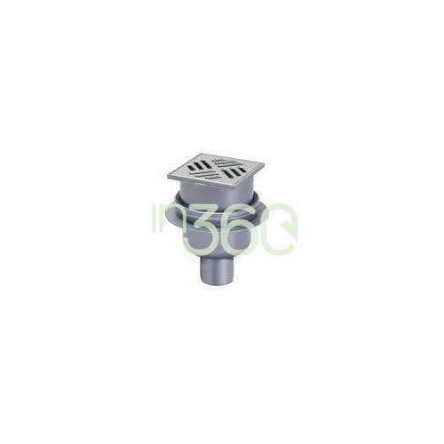 Kessel System 100 Wpust łazienkowy pionowy Classic z kratką szczelinową 10 x 10 ze stali nierdzewnej- odpływ pionowy DN 50 40250.20