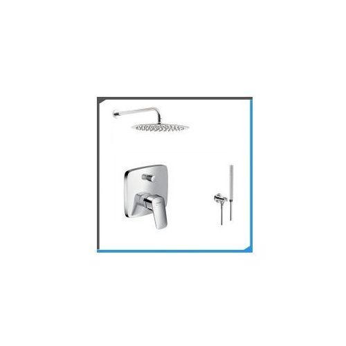 Podtynkowy zestaw prysznicowy z baterią hansgrohe logis 71405000, chrom zest28 marki Zestawy