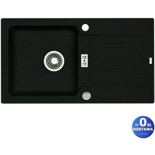 Alveus Zlewozmywak niagara 30 czarny 1-komorowy z ociekaczem + syfon automatyczny