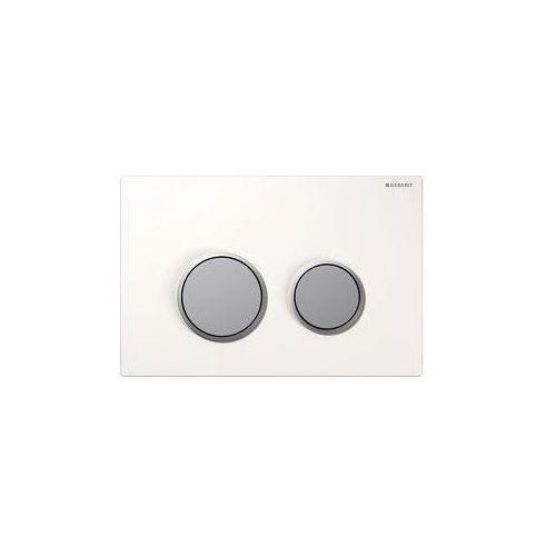 Geberit przycisk uruchamiający geberit sigma20, przedni (up320) biały/chrom mat 115.778.kl.1